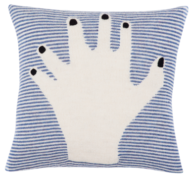 Fancy Finger Pillow Case (Blue)