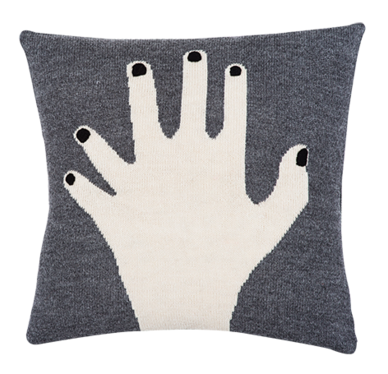 Fancy Finger Pillow Case (Grey)