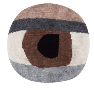 Pretty Eye Chair Pillow (Brown)