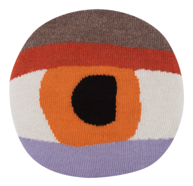 Pretty Eye Chair Pillow (Orange)