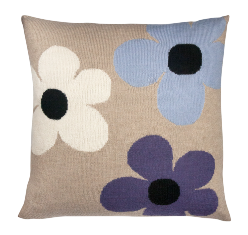 Lucky Flower Pillow Case Beige